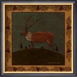 Folk Elk Art by Warren Kimble