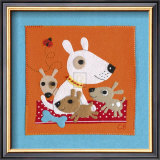 Playful Pups Print by Clare Beaton