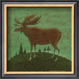 Folk Moose Prints by Warren Kimble