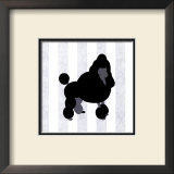 Poodle in Neutral Print by Christine Lucas