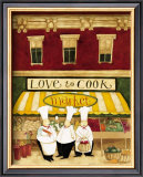 Love to Cook Market Prints by Dan Dipaolo