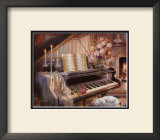 Sonata by Firelight Poster by Judy Gibson