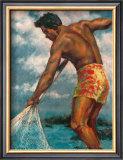 Island Fisherman Print by  Mickelson