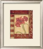 Sienna Blooms II Poster by Jo Moulton