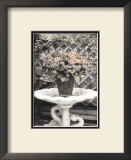 Vintage Flowers II, Still Life with Birdbath Prints by Sharyn Sakimoto