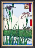 Irises a Pond Framed Giclee Print by  Hiroshige II