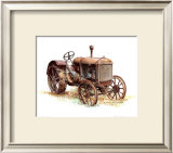 Early Model Mccormick-Deering Tractor Print by Sharon Pedersen
