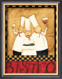 Three Chefs Wine Bistro II Print by Dan Dipaolo