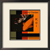 Colorful Garden Koi Framed Giclee Print by  erichan