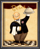 The Waiter, Diner Posters by Daphne Brissonnet