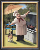 Barbecue Chef, Dog Posters by T. C. Chiu