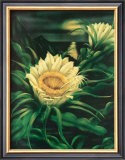 Blooming Cereus with Full Moon Prints by Ted Mundorff