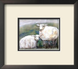 Sheep Print by Silvana Crefcoeur