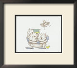 Bathroom Cats IV Print by A. Langston