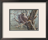Silent Forest (Great Horned Owls) Prints by Pierre Leduc