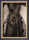 Black Dress Drawing Prints by Richard Nott