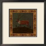 Folk Elk Art by Warren Kimble