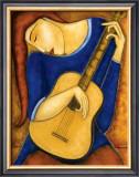 Vera A la Guitare Prints by Guy Mourand