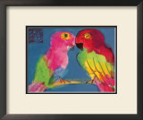 Two Parrots Posters by Walasse Ting