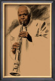 Sidney Bechet Framed Giclee Print by Clifford Faust