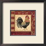 Red Rooster II Print by Jo Moulton