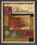 Believe Print by Debbie DeWitt