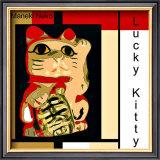 Maneki Neko the Lucky Kitty Framed Giclee Print by  erichan