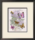 Hydrangea Butterflies II Posters by Ginny Joyner