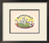 Busy Doing Nothing Art Print by Kate Mawdsley