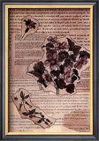 Antique Flowers III Art by Jeanne Hughes