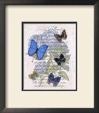 Hydrangea Butterflies I Prints by Ginny Joyner