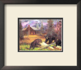 Bears on Logs Posters by M. Caroselli
