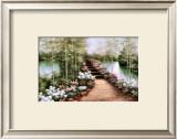 Bridge of Flowers Prints by Diane Romanello