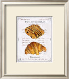 Pain au Chocolat et Croissant Art by Ginny Joyner