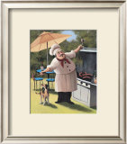 Barbecue Chef, Dog Poster by T. C. Chiu