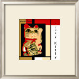 Maneki Neko the Lucky Kitty Framed Giclee Print by  erichan