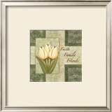 Tulips, Faith Family Friends Prints by Maria Girardi