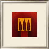3 Feathers in a Square Art by Pascale Nesson