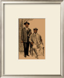 Louis and Joe Framed Giclee Print by Clifford Faust