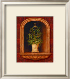 Olive Topiary Niches I Art by Pamela Gladding