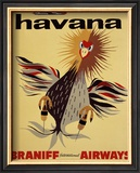 Braniff International Airways, Havana Framed Giclee Print