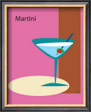 Martini in Pink Framed Giclee Print by  ATOM