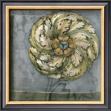 Rosette and Damask III Print by Jennifer Goldberger
