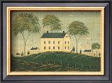 Farm House on Hill Art by Warren Kimble