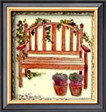 Garden Seat Poster by Alie Kruse-Kolk
