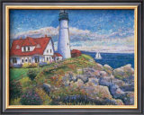 Portland Point Light Perfume Poster by Guy Begin