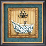 Blue Slipper Bath I Art by Jo Moulton