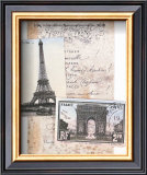 Paris, Eiffel Tower Print by Susanna England