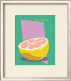 Pink Grapefruits Framed Giclee Print by  ATOM