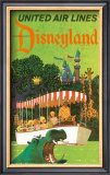 United Airlines: Disneyland in Anaheim, California, c.1960's Print by Stan Galli